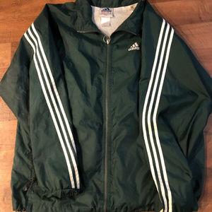 vintage adidas jacket windbreaker size L green